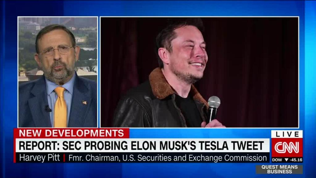 Tesla tweet 'highly problematic,' says former SEC boss