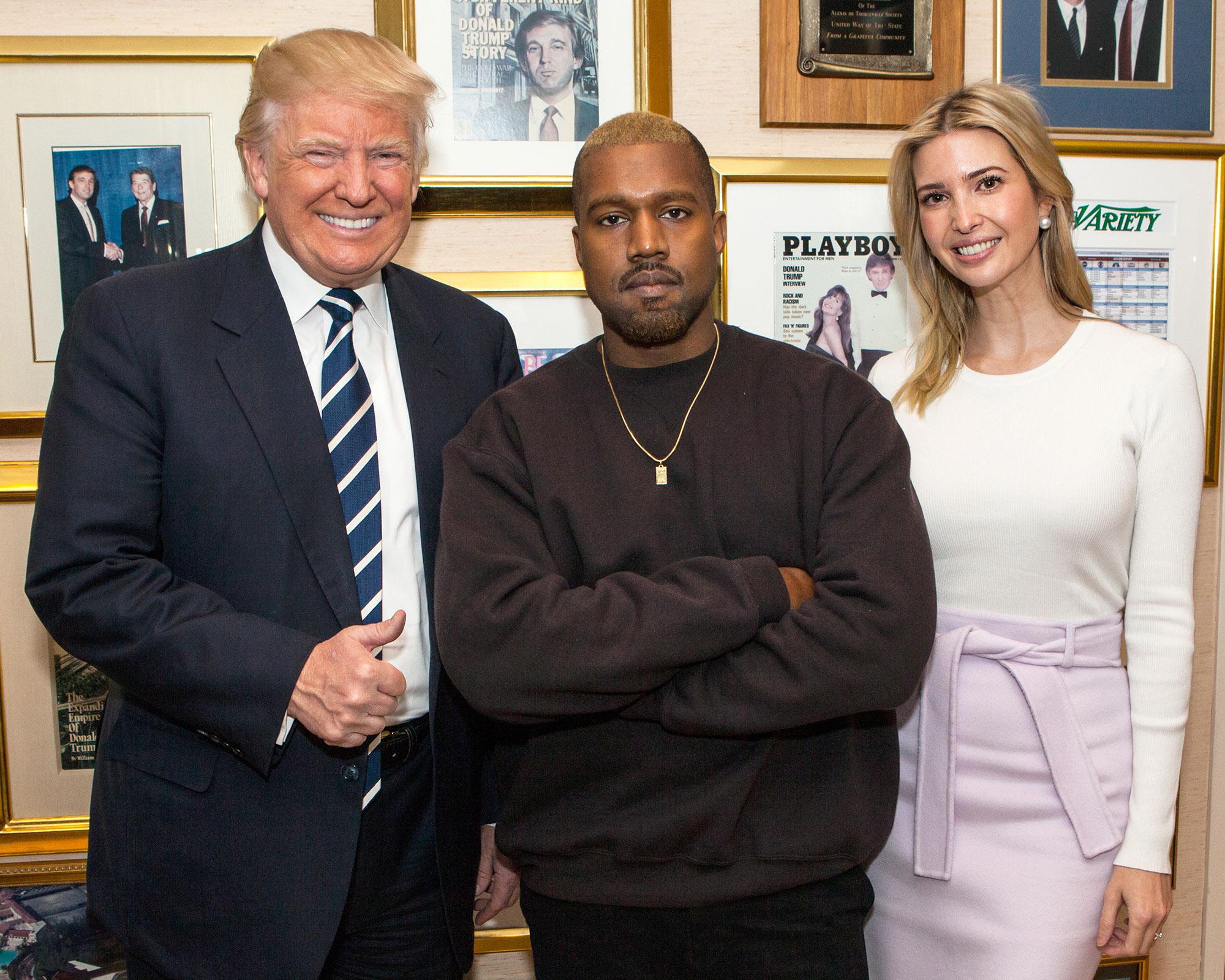 Donald Trump, Kanye West and Ivanka Trump