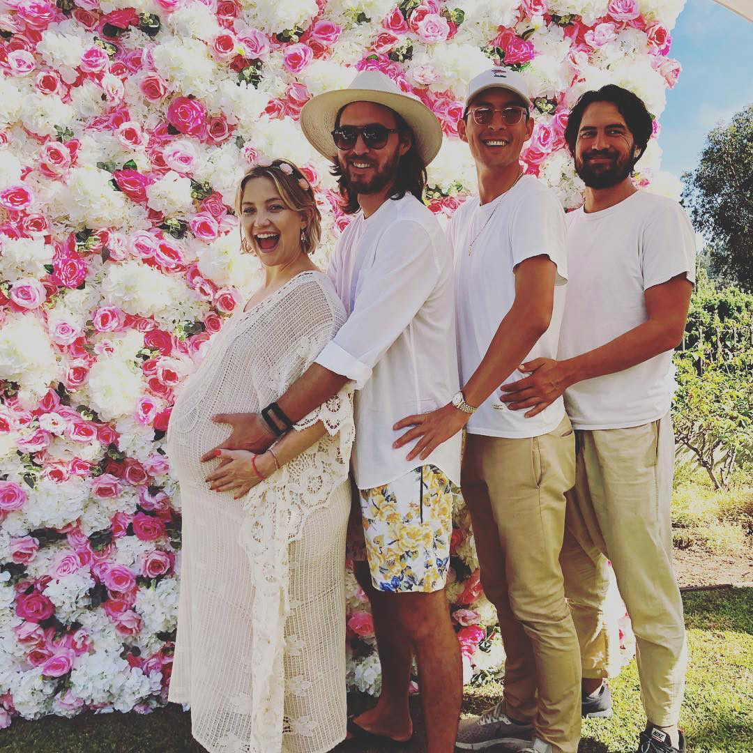 Kate Hudson and Danny Fujikawa with his brothers Michael and Braden