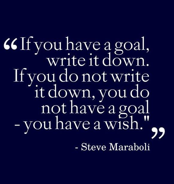 write down goals